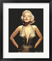 Framed Marilyn Monroe (Gold)
