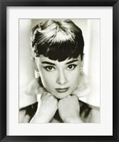 Framed Audrey Hepburn - Sepia