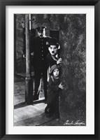 Framed Charlie Chaplin - The Kid
