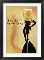 Framed Champagne Taittinger