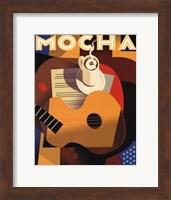 Framed Cubist Mocha