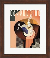 Framed Cubist Cappuccino