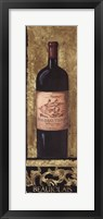 Framed Beaujolais Wine Bottle