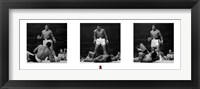Framed Muhammad Ali - 1965 1st Round Knockout Against Sonny Liston - Triptych