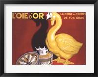 Framed L'oie D'or