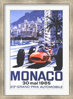 Framed Grand Prix Monaco 30 Mai 1965