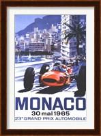 Framed Grand Prix Monaco 30 Mai 1965
