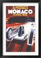 Framed Grand Prix De Monaco 1930