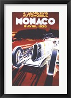 Framed Grand Prix De Monaco 1930