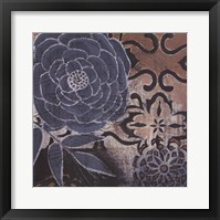 Framed Denim Rose I