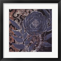 Framed Denim Rose II
