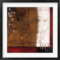 Red Contemporary III Framed Print