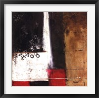 Red Contemporary IV Framed Print