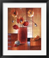 Afternoon Poppy Still Life I Framed Print