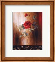 Framed Crimson Rose II
