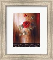 Framed Crimson Rose II