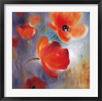 Framed Scarlet Poppies In Bloom I
