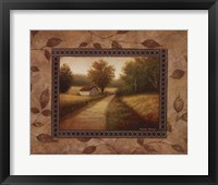 New Country Glimpse Framed Print