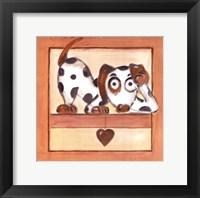 Framed Puppy Love III