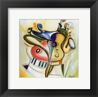 Bass-ic Instinct Framed Print