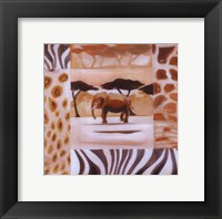 Animals of the Veld - Elephant Framed Print