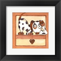 Framed Puppy Love III