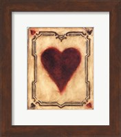 Framed Card Suits - Hearts