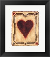 Card Suits - Hearts Framed Print