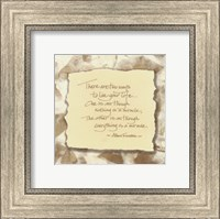 Framed WORDS TO LIVE BY: Miracle...