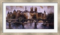 Framed Isle St. Louis Paris