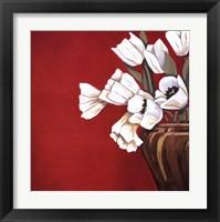Framed Tulips on Red
