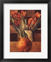 Framed Checkered Tulips II