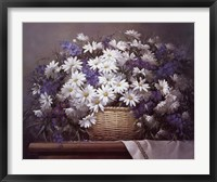 Framed Daisies and Delphiniums