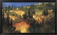 Framed Hillside - Tuscany