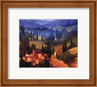 Framed Tuscan Valley View