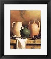 Earthenware with Grapes Framed Print