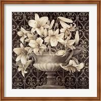Framed Lilies in Urn