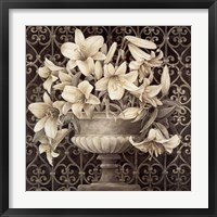 Framed Lilies in Urn