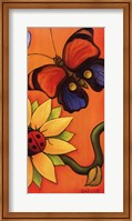 Framed Butterfly and Ladybug