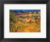 Framed Vineyard Hill