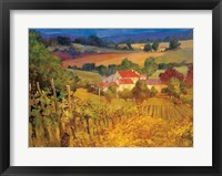 Framed Vineyard Hill