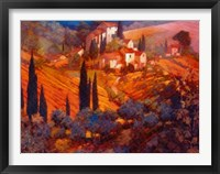 View from San Gimignano Framed Print