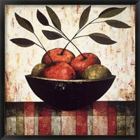 Framed Fruit Bowl on Silk