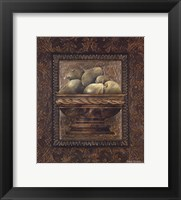Framed Rustic Bowl of Pears