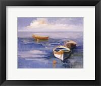 Framed Resting Boats