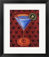 Martini Royale - Hearts Framed Print