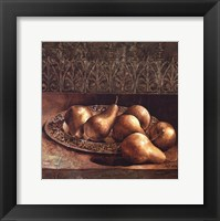 Framed Pears on a Platter