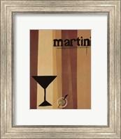 Framed Groovy Martini I