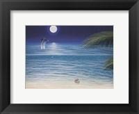Moonlit Palms Framed Print