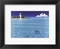Framed Boca Chita Lighthouse